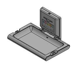 Пеленальный столик настенный откидной горизонтальный (CP0016H)