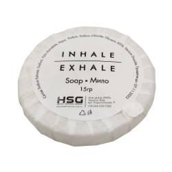 Мыло отельное 15 гр диаметр 4,7 см, одноразовое для гостиниц SO15-I HSG