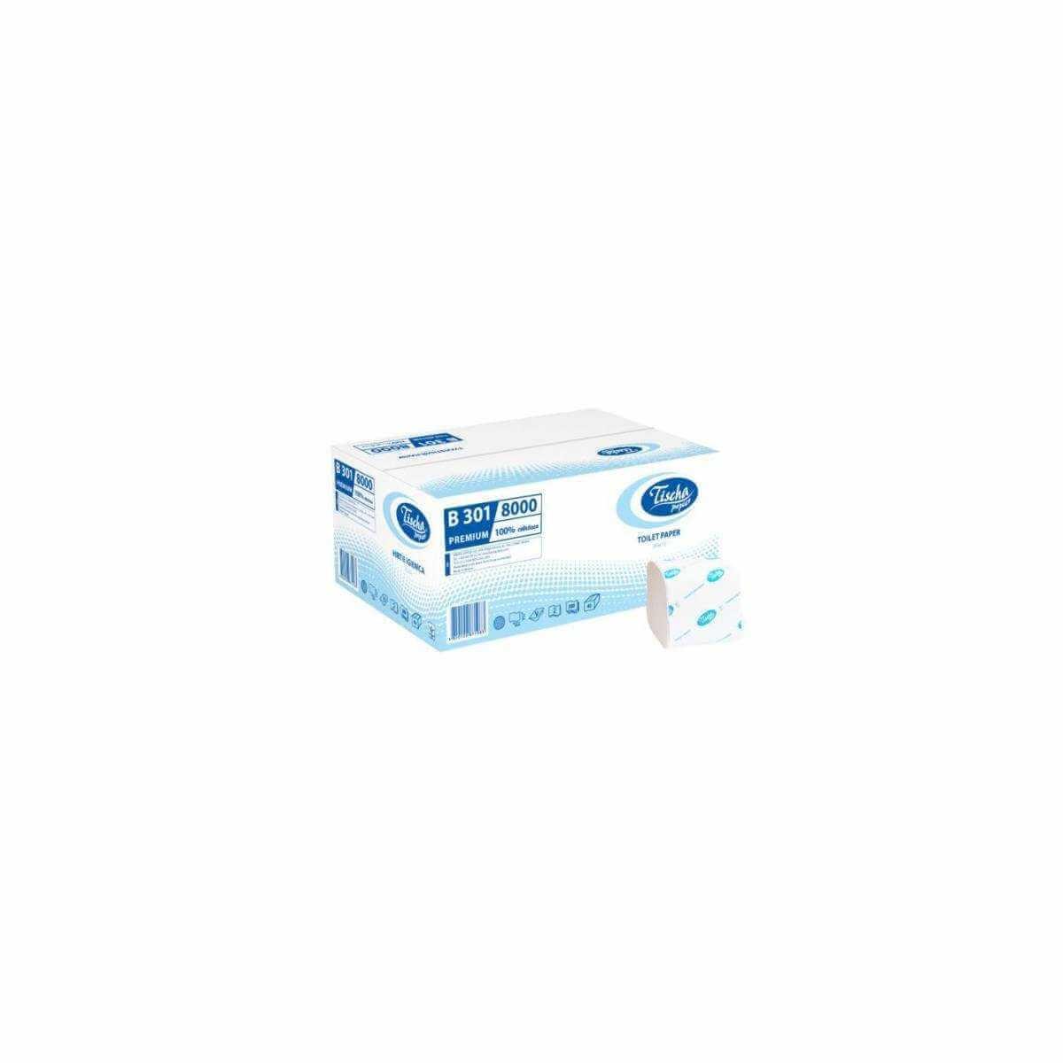 Туалетная бумага в пачке BASIC (B301) B301 Tischa Papier