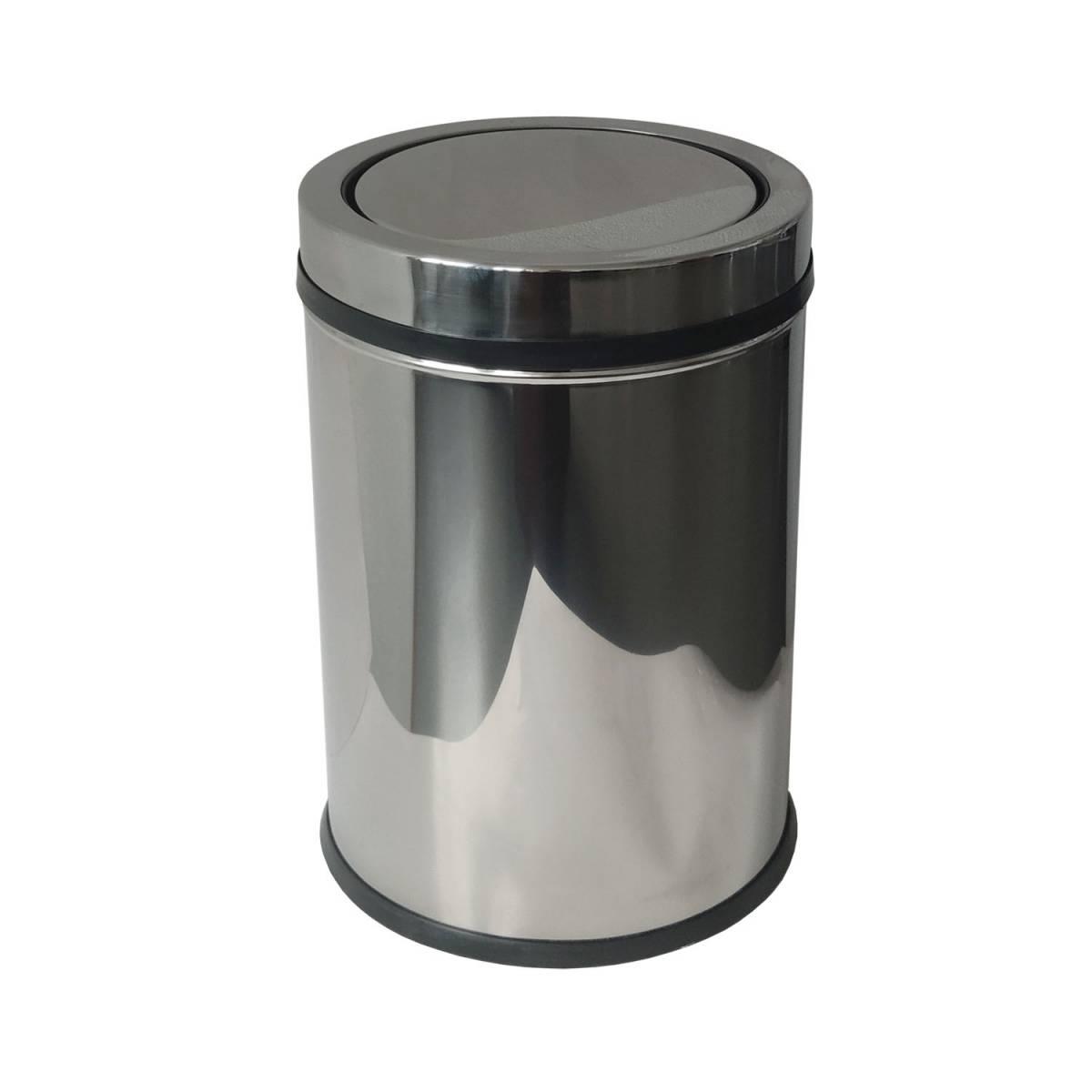 Ведро для мусора 32 л, урна с поворотной крышкой из нержавеющей стали 514400 Noksi