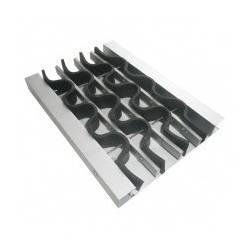 Алюминиевая решетка «Волна» с наполнителем из ПВХ для чистки обуви