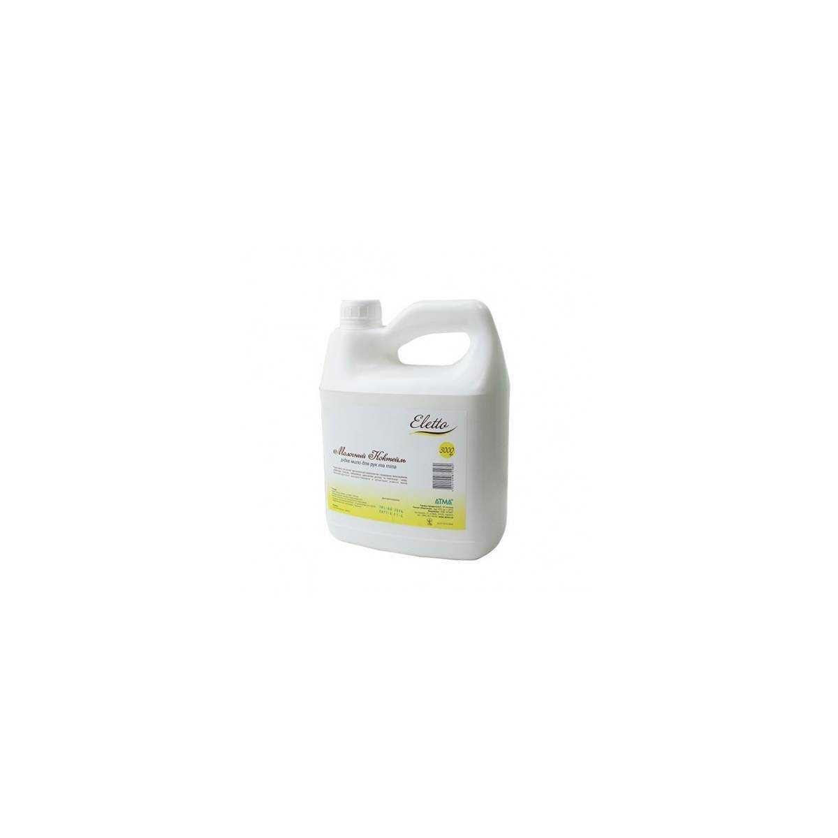 Мыло жидкое ELETTO Молочный коктейль 3л 5M 103000 Атма