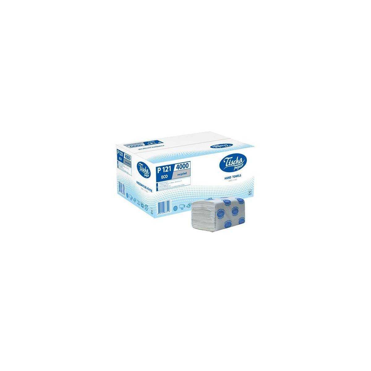 Полотенца бумажные ECO (ящик/20 пачек по 200 листов) P121 Tischa Papier