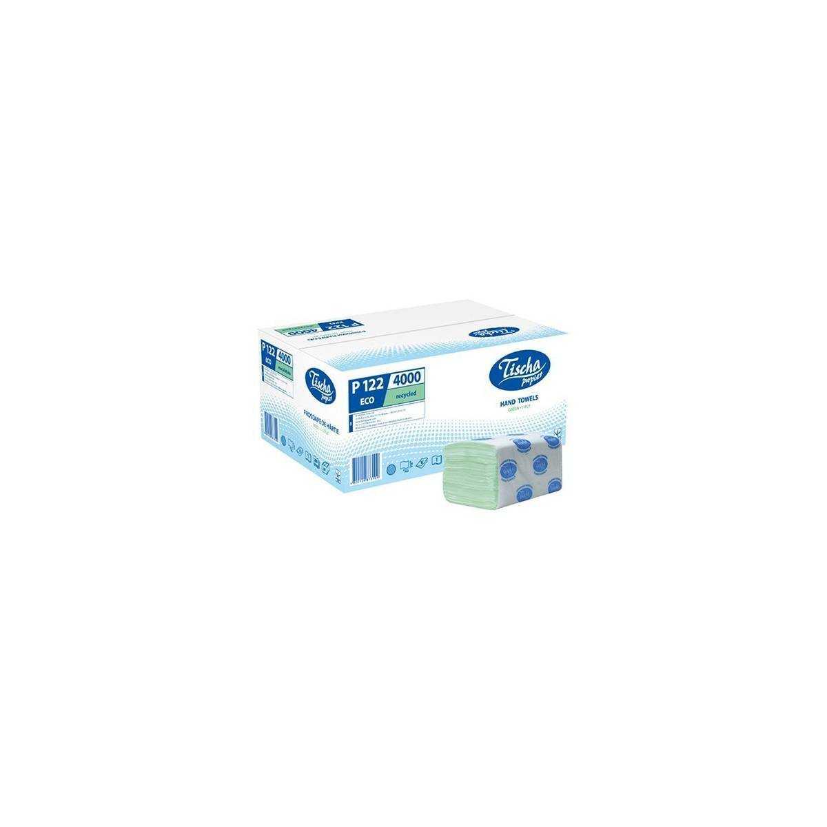 Полотенца бумажные ECO (ящик/20 пачек по 200 листов) P122 Tischa Papier
