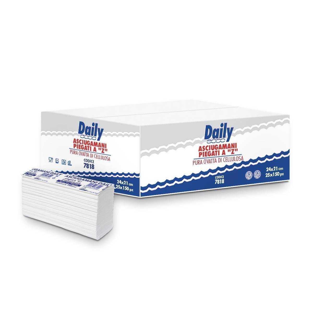 Полотенца бумажные Carind Daily (Z-складка, ящик-25 пачек по 120 листов) 7818 Carind