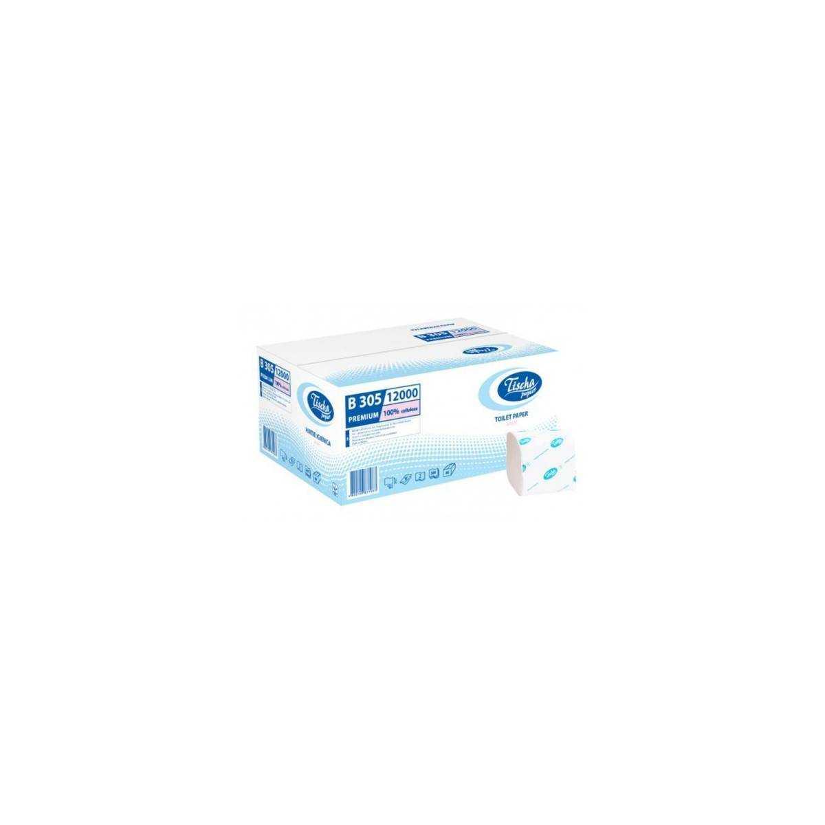Туалетная бумага в пачке BASIC (B305) B305 Tischa Papier