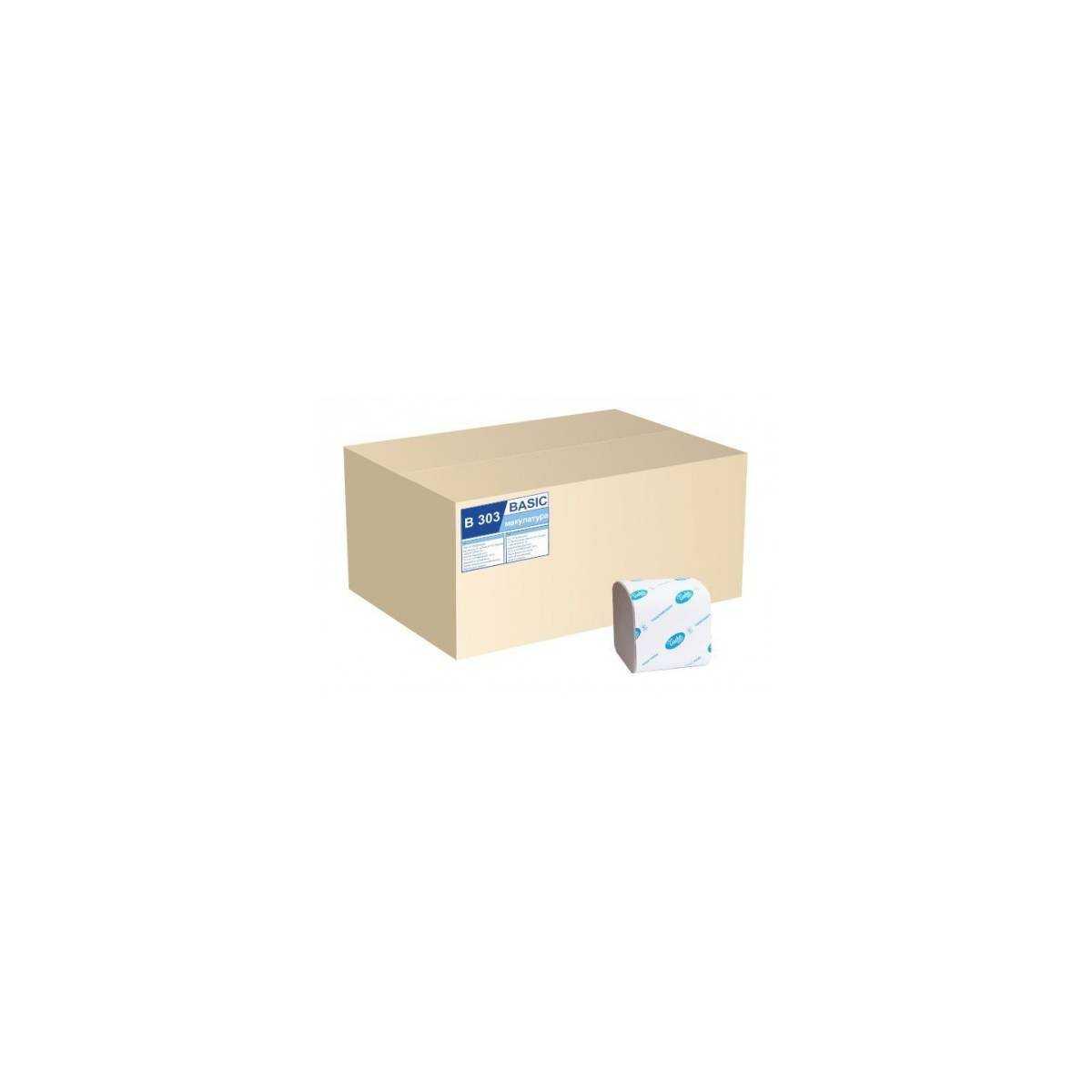 Туалетная бумага в пачке BASIC (B303) B303 Tischa Papier