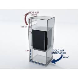 Мини-бар ISM SM 40 Glass, бескомпрессорный холодильник SM40-G ISM