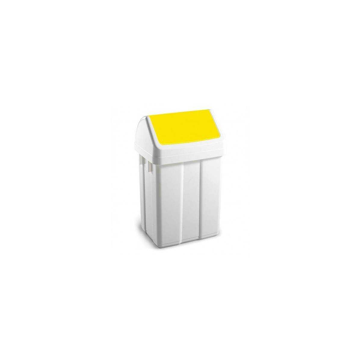 Урна для мусора с поворотной крышкой 25л MAXI 00005203 TTS