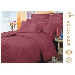 Комплект постельного белья Satin Stripe Bordo-53