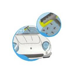 Скребок для стекол авто двухсторонний металлический Mosquito 25см 20643 APEX - Fratelli Re SpA