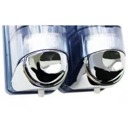Двойной дозатор жидкого мыла 0,17 л *2 Mar Plast ACQUALBA (652) 652С Mar Plast
