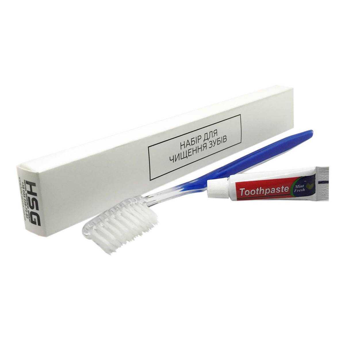Зубной набор (щетка+паста 5г) в п/е и картонной коробочке DK5-C HSG