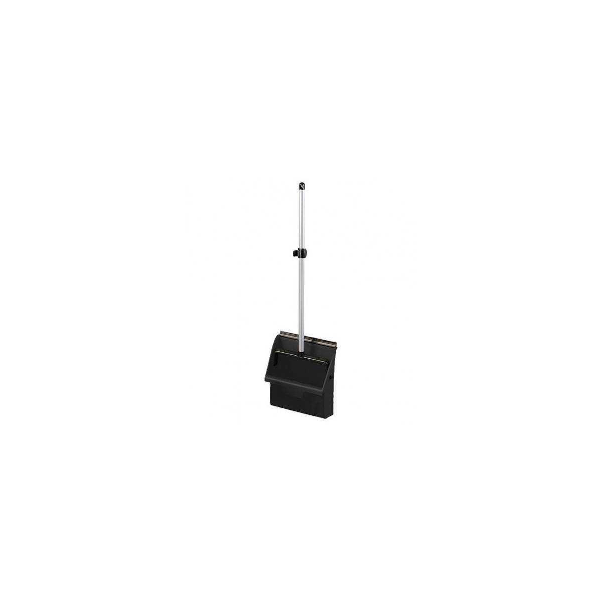 Пластиковый совок с алюминиевой ручкой Clip черный 00005616 TTS