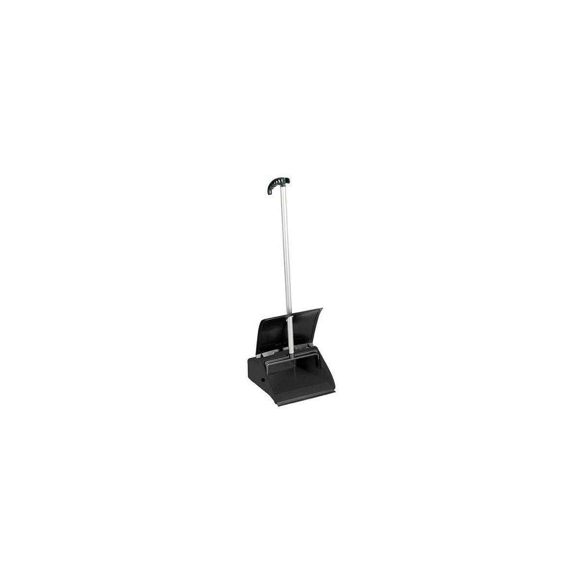 Пластиковый совок с алюминиевой ручкой и крышкой Clip черный 00005636 TTS