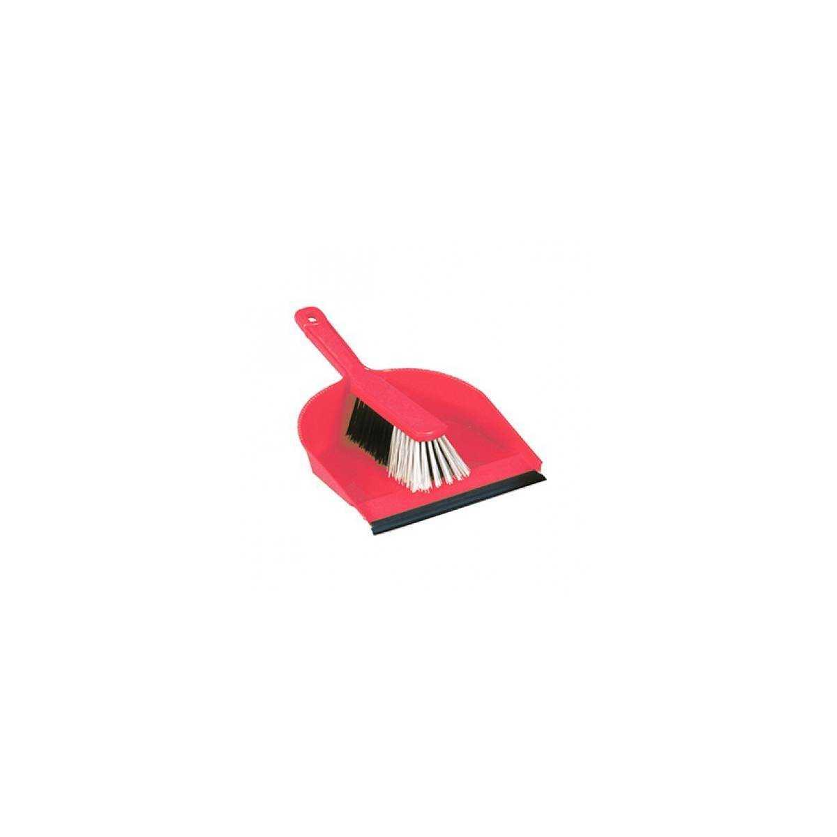Набор для уборки совок+щетка DUST PAN (Красно цвета) E.770.24R TTS