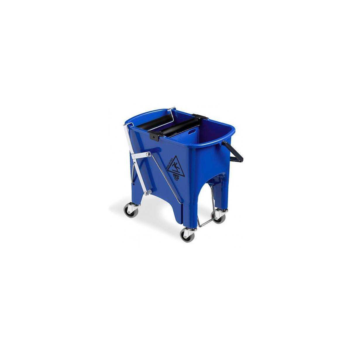 Ведро для уборки с отжимом SQUIZZY 15л на колесах (Синего цвета) 0B006415 TTS
