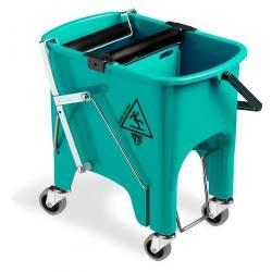 Ведро для уборки с отжимом SQUIZZY 15л на колесах (Зеленого цвета)