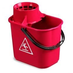 Ведро EASY с отжимом 14л (Красного цвета)