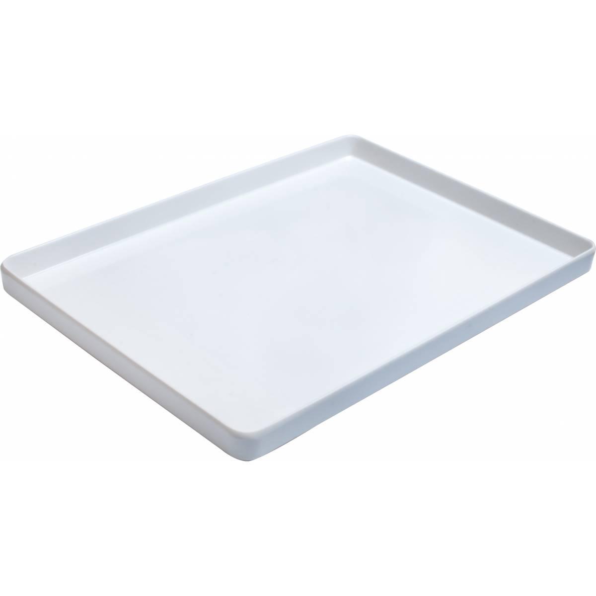 Поднос белый 395x280x24 мм, меламин E Main White HSG