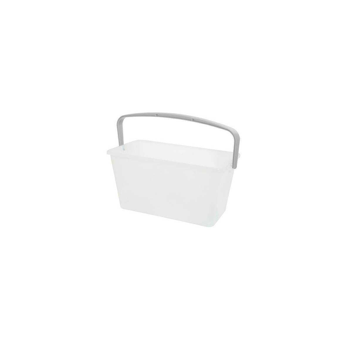 Ведро для уборки с ручкой 13л (Белого цвета) 9910 TTS