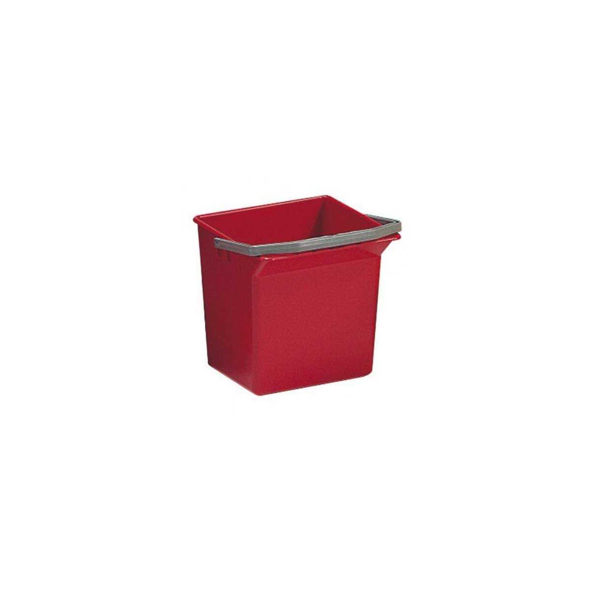 Ведро для уборки с ручкой 6л (Красного цвета) 3505 TTS