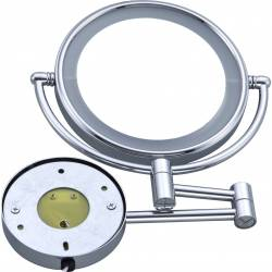 Зеркало косметическое настенное HS-519, LED подсветка, 3х кратное увеличение HS-519 HSG