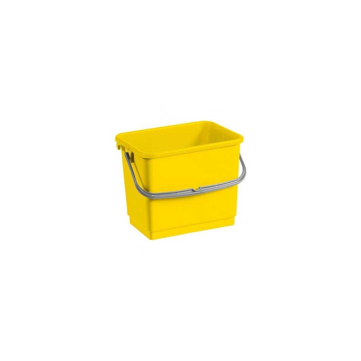 Ведро для уборки с ручкой 4л (Желтого цвета) 00003360 TTS