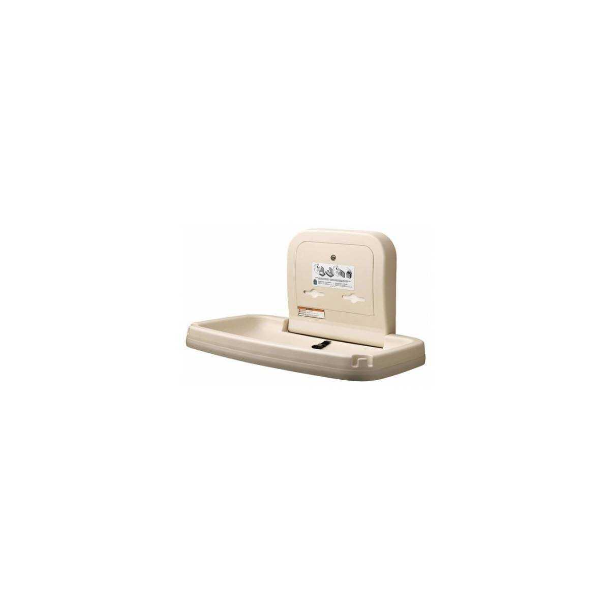 Пеленальный столик настенный откидной горизонтальный (КВ200-00-INB) КВ200-00-INB Bobrick
