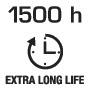 Длительный срок службы 1500 часов