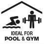 Идеально подходит  для использования в многолюдных общественных местах, таких как спортивные залы и бассейны.